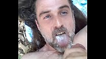 GAYGORY Naked Horny Slut stroking hard cock in public eats hot cum please retweet make me a famous whore