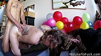 Hot Chick Gagging Deepthroat leads to Anal Cumload