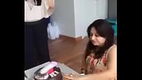 Delhi college girls masti with cake thumbnail