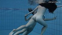 Two hot lesbians in the pool loving eachother thumbnail