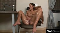 Tiny Brunette Girl Getting Herself Off to Good Porn