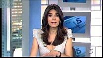 Marta Fernandez, Gray Dress With Scoop