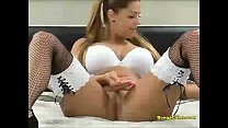Horny college girl masturbates on webcam thumbnail