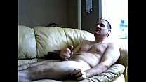 A relaxing wank on the sofa