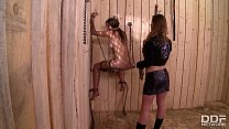 The Kinky Advantages Of Being a Lesbian Slave With Cathy Heaven And Bonnie Shai Image