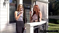 Hottest Lesbian Threesome - Two Blondes & Redhead Image