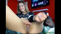 Hot Teen on CAM rubbing her dripping wet young pussy thumbnail