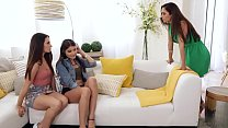 Lets do it on your Moms bed! - Cassidy Klein, Reena Sky and Adria Rae