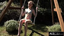 Hannah Hays Hops Off Her Swing to Masturbate