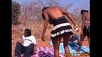 African amateur couple slave in love enjoying picnic sex outdoor pornhub video