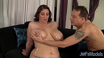 Sexy and pretty plumper Angel DeLuca hardcore sex