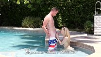 PASSION-HD Camel Toe FILLED UP With Big Dick On 4th Of July preview image
