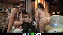 Hot big tits party and plump group sex