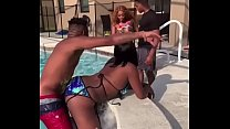 Real poolside fuck!