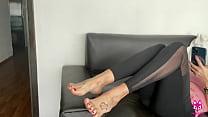 I fucked her cute feet - TheFoxxxLife - Footjob...