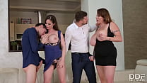 Tittyfucking Orgy with Voluptuous Nymphos Cathy Heaven & Laura Orsolya
