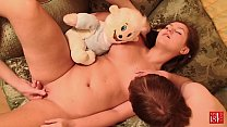 13957 MY18TEENS - Threesome Party - Guys Fucking Young Babe and FacaiL! Closeup! preview