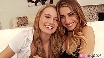 Naughty sluts Scarlett Sage and Kristen Scott loves anal toying