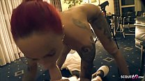 Fucking machine and Stranger Drill German Redhead Teen Anni Angel Hard