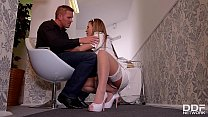 Lucky fucka gets a Double blowjob by his wife & a maid! image