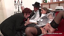 FFM French milfs ass fucked and pussies fist fucked in threeway Image