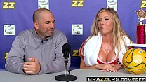 Brazzers - Big Tits In Sports -  Suck-Sex in Soccer scene starring Samantha Saint and Xander Corvus