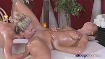 Massage Rooms Redhead lesbian gives blonde mode...
