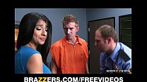 Megan Salinas gives a conjugal visit to a big dicked Brit