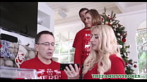 Cute And Tiny Teen Step Sister Riley Mae And Her Step Brother Fuck During Family Christmas Photo صورة
