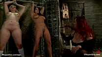 MILF dominates big ass submissives