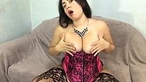 BBW Amateur Hard Masturbate Wet Pussy and Passionate Massage Big Tits
