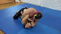 Athina vs. The Mexican - bikini mixed wrestling