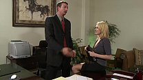 Big Tits Hot Blonde Secretary gets the raise she wanted easily