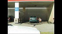 Crazy pee girl at the car wash صورة