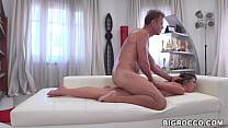 Romanian beauty gets pussy fucked by Rocco Siffredi
