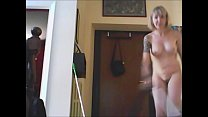 7885 what a naughty housewife! all naked and struggling with the vacuum cleaner preview