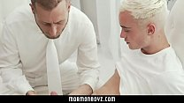 MormonBoyz - Horny twink missionary jerked off by priest daddy