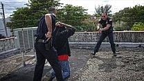 GAY PATROL - Black Breaking and Entering Suspect Gets Fucked By Da Police