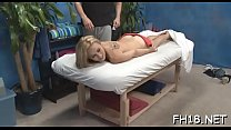 Hot 18 year old girl gets screwed hard from behind by her massagist