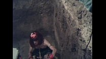 Sissy Slave Drinks Piss Chained in Mud