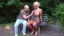 German Big Tits MILF Seduce Stranger to Fuck in Park Vorschaubild