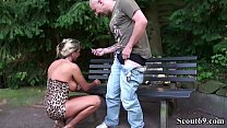German Big Tits MILF Seduce Stranger to Fuck in Park Vorschaubild