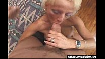 Sexy blonde mature fucks younger guy Image