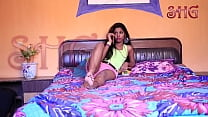 Desi Indian girl hot romance with young guy in bed