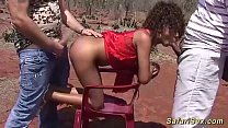 skinny african babe threesome fucked preview image