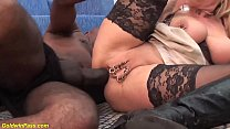 extreme pierced milf ass fucked by a black monster cock
