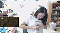 Twitch streamer japanese flashing perfect shape boobs in an exciting way Image