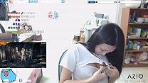 Twitch streamer japanese flashing perfect shape boobs in an exciting way Vorschaubild