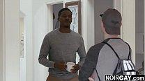 Straight white boy sucking a big black cock for 300$ - interracial gay sex