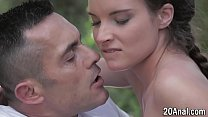 Anally riding babe gets mouth cummed into